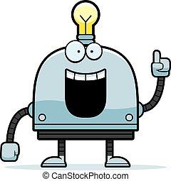 weinig; niet zo(veel), robot, idee