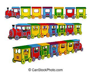 weinig; niet zo(veel), trein