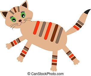 weinig; niet zo(veel), (vector, version), kat