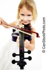 weinig; niet zo(veel), violist