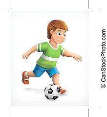 weinig; niet zo(veel), voetbal, playe