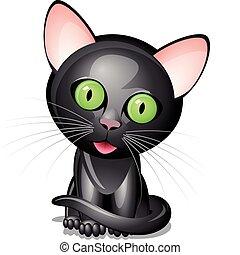 weinig; niet zo(veel), zwarte kat