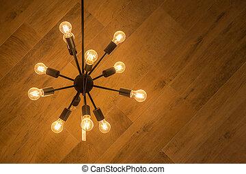 Weinlese, decke lampe, anhänger, licht. Höchstmaß licht