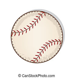 weinlese, antikisiert, baseball