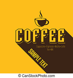 weinlese, bohnenkaffee, retro, hintergrund