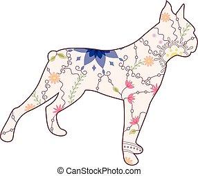 weinlese, boxer hund