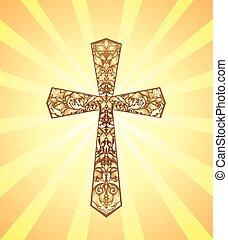 weinlese, christ, kreuz