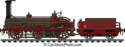 weinlese, dampflokomotive