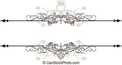 weinlese, dekorativ, banner