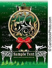 weinlese, design, weihnachten, schablone