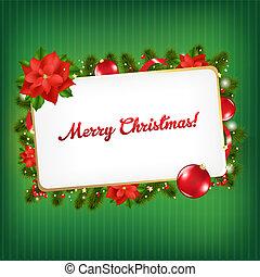 weinlese, etikett, weihnachten geschenk, leer