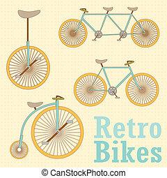 weinlese, fahrrad, retro