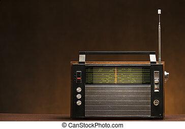 weinlese, grungy, radio