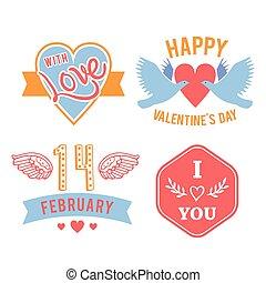 weinlese, hand-lettered, valentines, str., karte