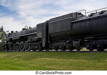 weinlese, historisch, dampfzug, motor