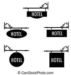 Hotel Vektor Zeichen Laden Informationen Altes