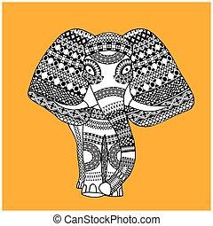weinlese, indischer elefant