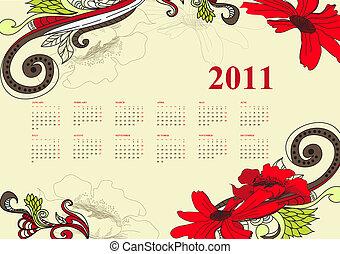 weinlese, kalender, 2011