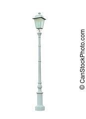 weinlese, lampenposten, laternenpfahl, straße, straße, heller pole, freigestellt