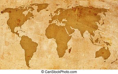 weinlese, landkarte, welt