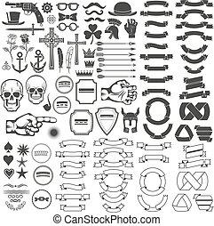 weinlese, logo, elemente