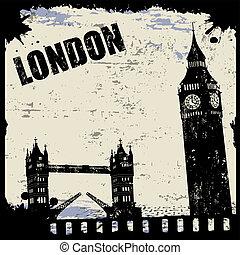 weinlese, london, ansicht