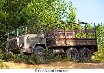 weinlese, militaer, lastwagen