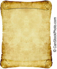 weinlese, papier, pergament, rolle