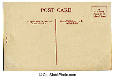 weinlese, postkarte
