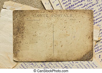 weinlese, postkarte, und, briefe