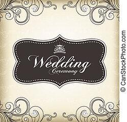 weinlese, rahmen, (wedding, ceremony)