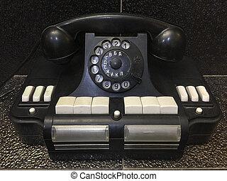 weinlese, retro, sowjetisch, hörer, telefon