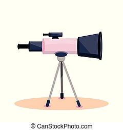 weinlese, retro, teleskop