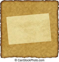 weinlese, sammelalbum, altes , papier, mit, rahmen