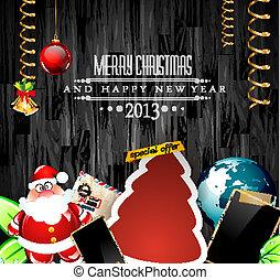 weinlese, sammelalbum, zusammensetzung, weihnachten