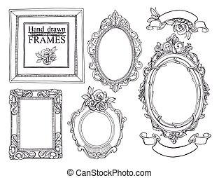 weinlese, satz, frames.