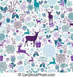 weinlese, seamless, element, fröhlich, muster, weihnachten