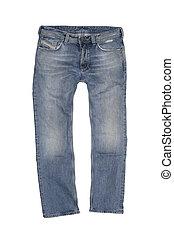weinlese, stein wusch, jeans
