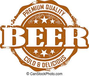 weinlese, stil, bier, briefmarke