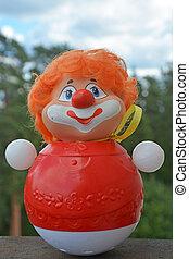 weinlese, stil, clown