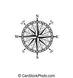 weinlese, symbol, kompaß, zeichen