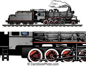 weinlese, train.