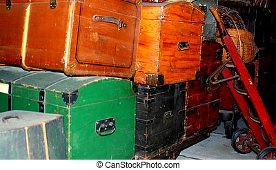 weinlese, trunks/luggage