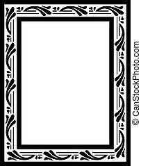 weinlese, vektor, frame.