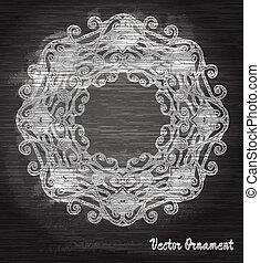 weinlese, vektor, pattern.chalk, board., hand, gezeichnet, abstrakt, hintergrund., dekorativ, retro, banner., buechse, sein, gebraucht, für, banner, einladung, wedding, karte, scrapbooking, und, others., königlich, vektor, design, element.