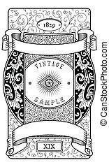 weinlese, viktorianischer stil, etikett