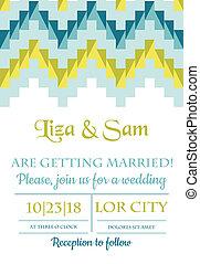 weinlese, wedding, -, vektor, einladung, sammelalbum, design