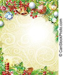 weinlese, weihnachten, hintergrund