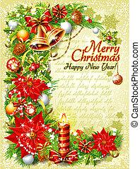 weinlese, weihnachten, schablone