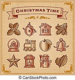 weinlese, weihnachtsdekorationen